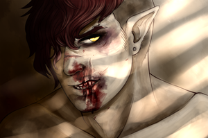 You look so much better coverd in blood by Akira-Raikou