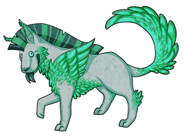Silly Peacock Dog by Kingfisher-Gryphon