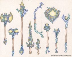 Coral Weapons by zbenjamin27
