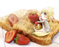 strawberry syrup by KnotBerry