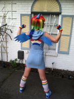 Rainbow Dash Back View by RennieStarks
