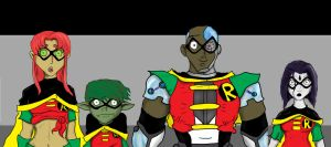 Teen Titans from The Quest by DanMizelle