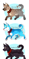 Set Price Canines (3/4 OPEN) by JollyMutt