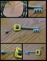 Kingdom Hearts Keyblade Charm by naga-kkw87