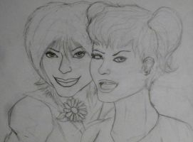 Duela and Enigma (wip) by Comix-Chick