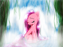 Pinkamena - Washing my sadness away by katie-the-fox