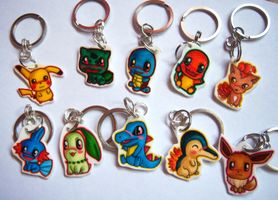 Pokemon Chibi Charm Keychains by IcyPanther1