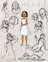 The Girl: Character Model Sheet by TheArtRogue