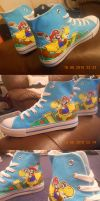 Super Mario Shoes by Frogger277