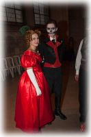 Halloween ball, Miss Vampire and Mr Skeleton by Lisette-la-cousette