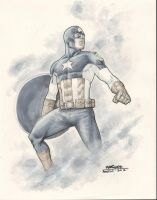 Captain America Commission 2 by davidmarquez