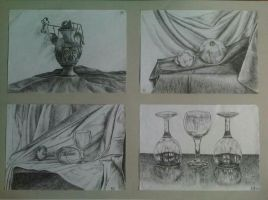 Drawing - Different Drawings Still Life by eduaarti
