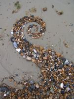 Beach spiral 1 by Dishtwiner
