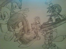 Sonic , tails, and knuckles by OmegaXzeroX566