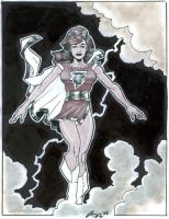 Mary Marvel 11 x 14 by Amiya by Barracuda9999