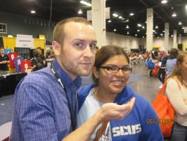 Me and Adam Montoya aka SeaNanners - Vidcon by ILoveCP