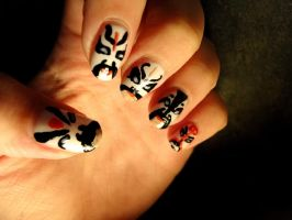 Peking Opera Nail Art by aniapaluch