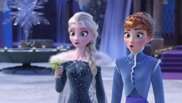 Elsa and Anna olaf's frozen adventure by queenElsafan2015