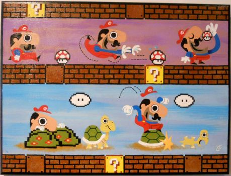 Mario Pixel Love For Sale by JustinCoffee