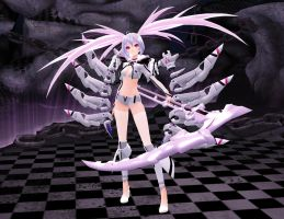 [MMD] White Rock Shooter by sailor-rice
