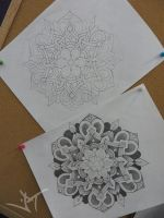 Mandala drawing by Janaina