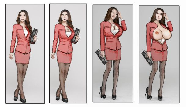 business woman BE by DARKoHORSE