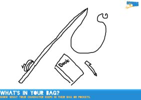 Whats in your Bag meme [HH] - All I carry is a rod by Holographic-Neku