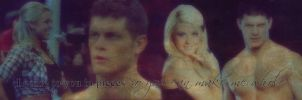 Tiffany and Cody Rhodes Banner by verusImmortalis