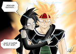 Baddack and Hanasia (Dragon Ball Multiverse) by Veguito2b