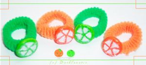 Bobbles - Orange and Lime by neko-crafts