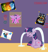 When Twilight Sees Herself on the Poster by Mighty355