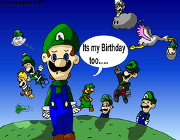 Luigi's birthday by gamerman77