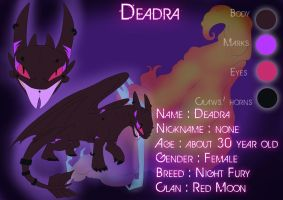 Deadra Ref. Sheet by iEro-Lau