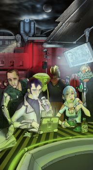 Cyberpunk Cantine Color by mikeomni
