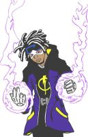 Static Shock Inked and Colored by JohnRose