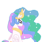 Ponymon X: Princess Celestia Backview by Banditmax201