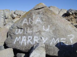Marriage proposal on rocks by milozilla
