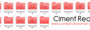 Ciment Red Folders - By, Candush by Candush