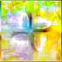 Wine Glass Texture Pinwheel by DonnaMarie113