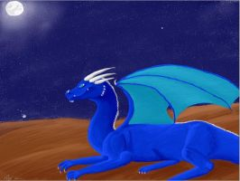 Dragon At Night. by Superpersonx
