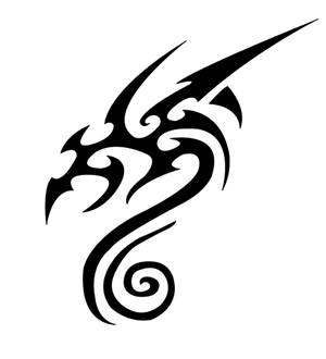 Tattoo Tribal Dragon Heads