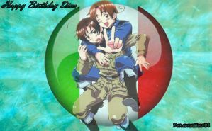 Italy and Romano(Request for Lord-snoozles-twinkl) by Paradisewolf01
