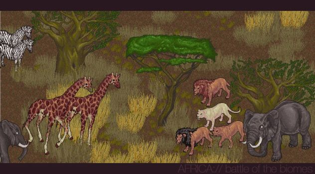 NEW DREAM Mixed African Biomes by BrownieBottomSundae