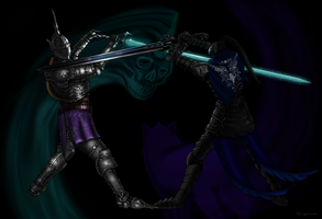 Demon's/Dark Souls: Penetrator vs Artorias by Felipe-Gewehr