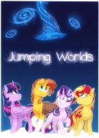 Jumping Worlds   Comic Cover by MarieRG