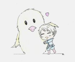 Chibi Gilbert and Gilbird Love by Timeless4Life