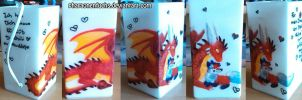 A painted Lamp for Drachi by Pharaonenfuchs