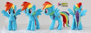 Rainbow Dash Plush 3 by nekokevin