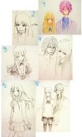 Sketch dump Rika and ryou by Amika-theonenonly
