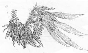My wing tattoo... basic idea by Dragon-gurl